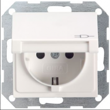 Gira System55 lid socket white