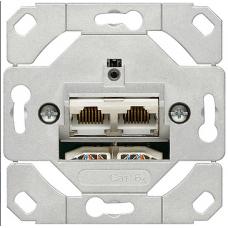 Gira System55 dupla RJ45 szerkezet