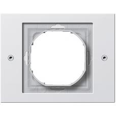 Gira TX44 pushx1 frame, white