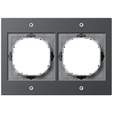 Gira TX44 pushx2 frame, anthracite