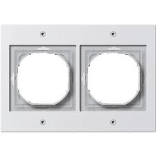 Gira TX44 pushx2 frame, white