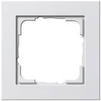 Gira E2x1 frame white