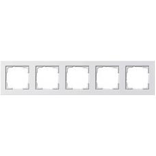 Gira E2x5 frame white